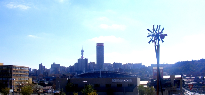 Troyeville is located very close to Ellis Park, which can be seen in this photo