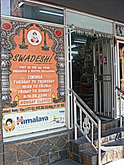 This shop sells all kinds of Hindu ornaments, books and statues