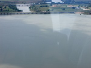 The Vaal Dam wall.