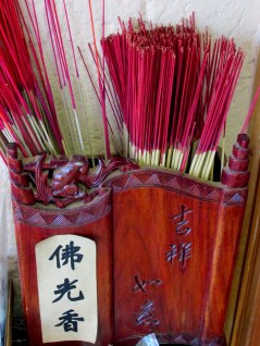 Some of the incense that you could burn at the Buddhist Temple