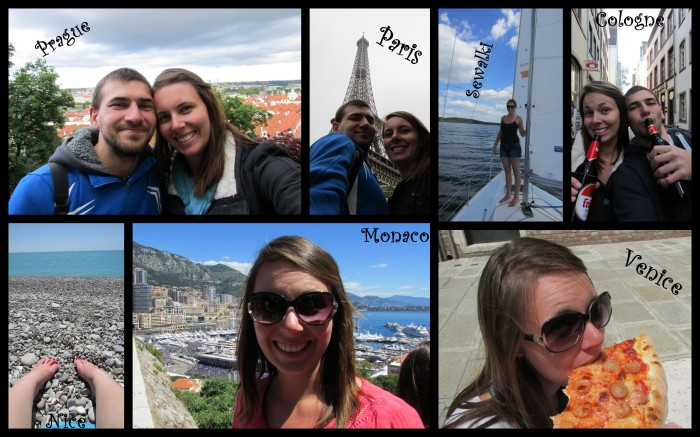 A few snapshots of me around Europe.