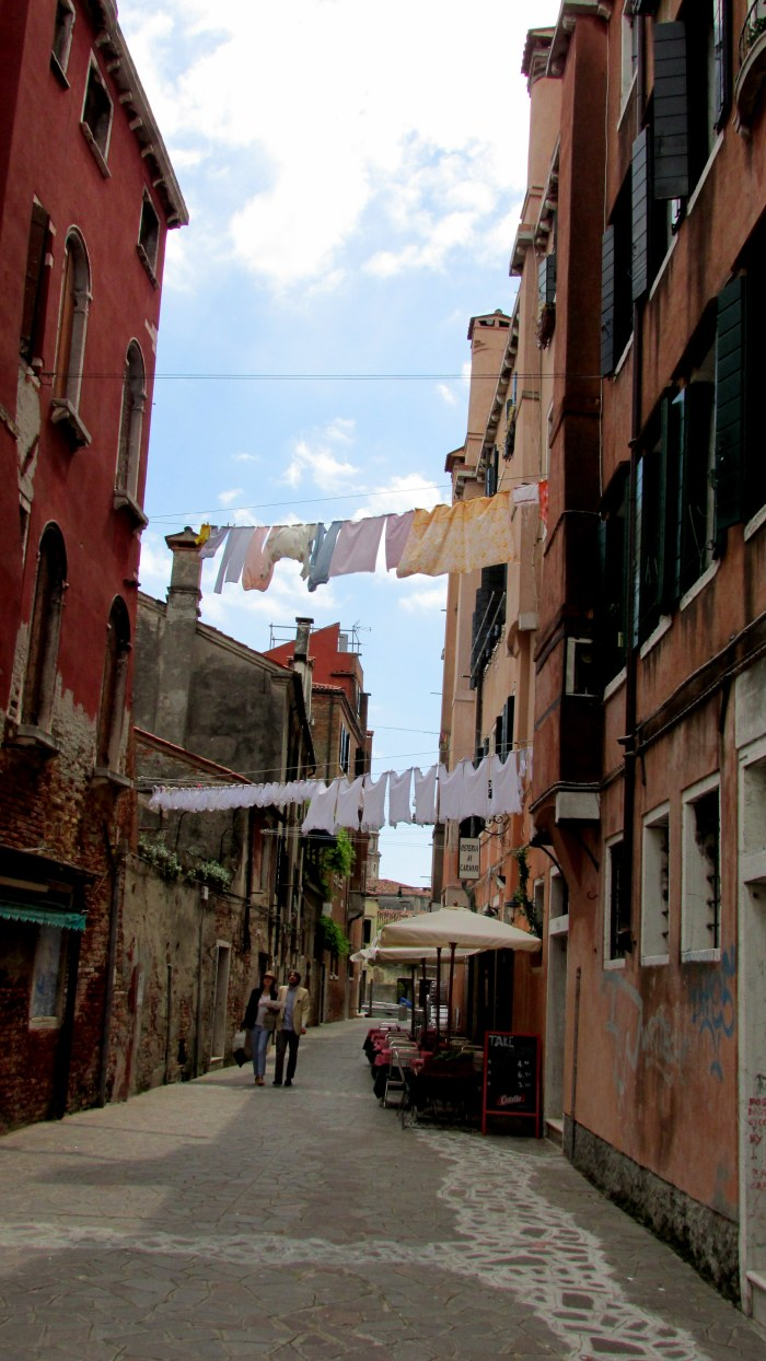The typical Italian washing line over the streets