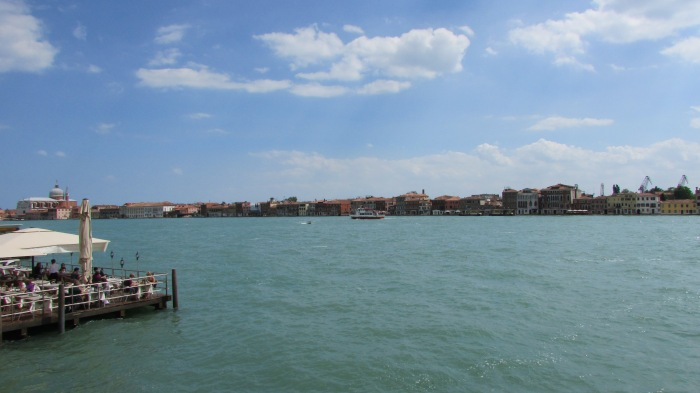 The big open canal separating the islands