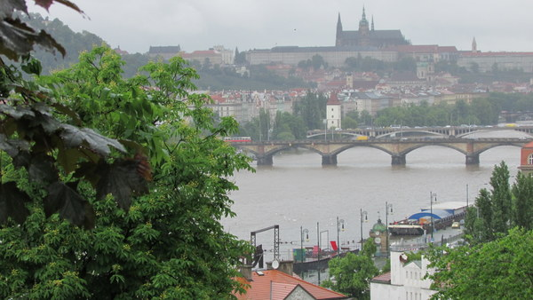 Even in the rain, Prague does look pretty beautiful