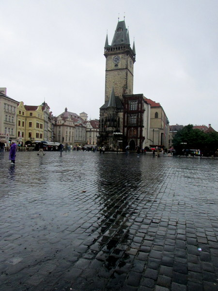 The wet square in Prague