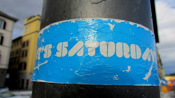 Whoohoo! It's Saturday :) I love this sticker found in Florence, Italy.