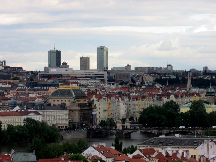 Love how in this photo you get to see the 'old' Prague with the new modern buildings in the background. Modern buildings just don't have the same character.