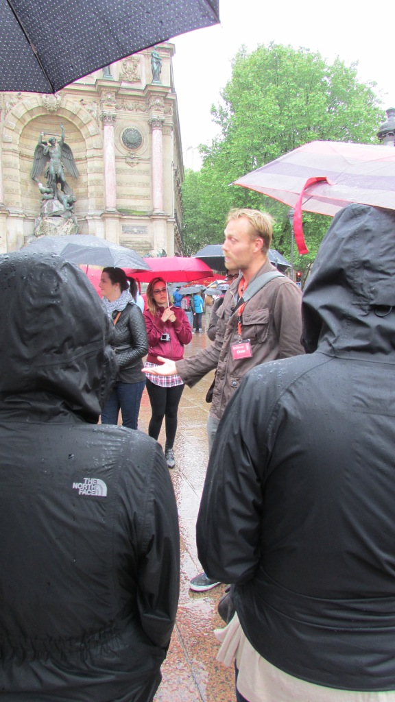 This was Otto, our tour guide in Paris. As you can see it was raining - The New Europe Tours are everyday come rain or shine!