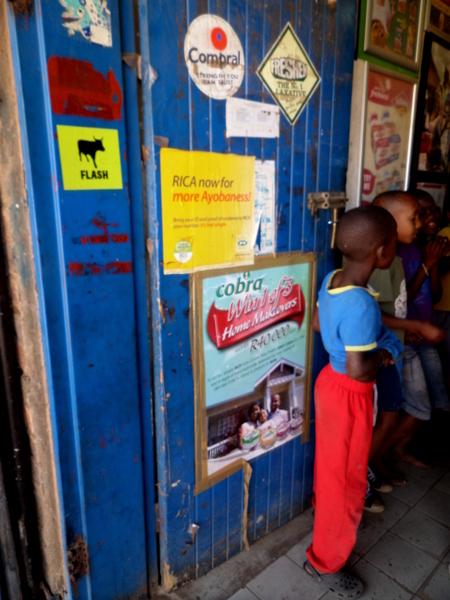 Kids in a Spaza shop