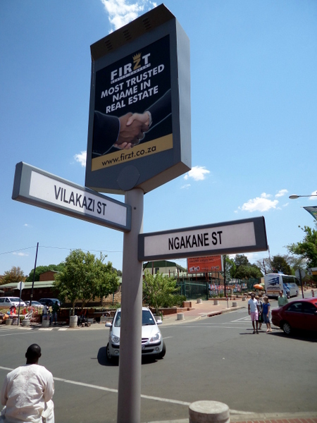 The famous Vilikazi Street where two Noble Peace Prize winners have lived: Nelson Mandela and Desmond Tutu. Now a street buzzing with tourists and excitement.