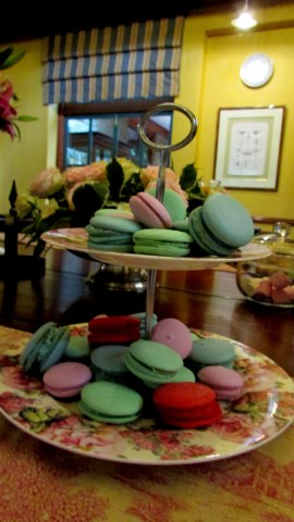 What is high tea without maccoroons?