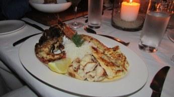 Seafood platter of calamari, fish and crayfish